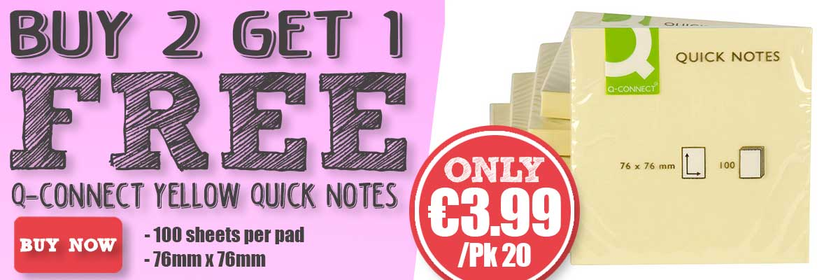 Buy 2 Get 1 Free On Q-Connect Quick Notes