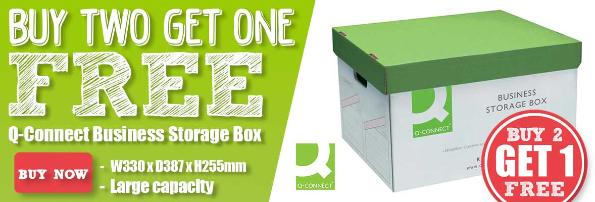 Q-Connect Business Storage Box - Buy 2 Get 1 Free