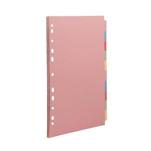 Concord Subject Divider 10-Part A4 72090/J20M - File Dividers