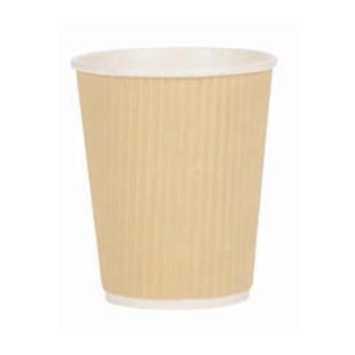Paper Cup Ripple Wall PE Lining 8oz 227ml Corrugated Case Brown Kraft Ref 0511094 [Pack 500]