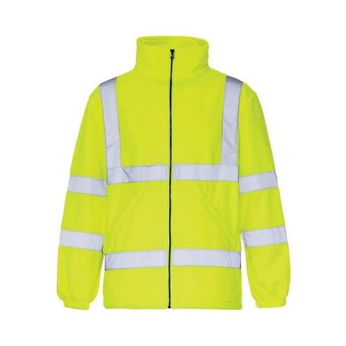 High-Vis Fleece Jacket Poly with Zip Fastening Large Yellow Ref CARFSYL