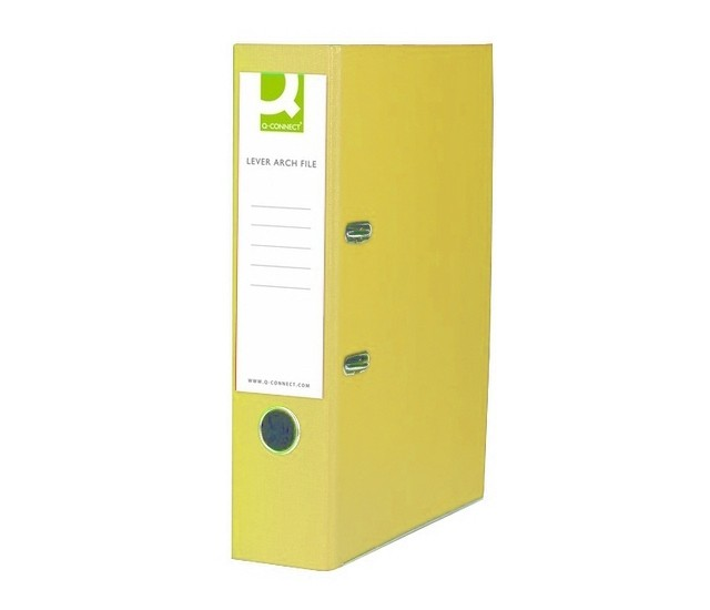 Q-Connect Yellow Paper-Backed Foolscap Lever Arch Files KF01471 - Foolscap Lever Arch Files