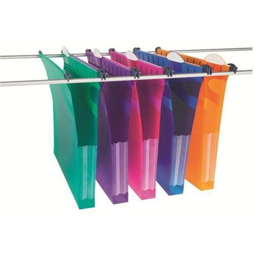 Rexel Assorted Crystalfile 30mm A4 Twinlock Secure Suspension Files PACK OF 10 - A4 Suspension & Lateral Files