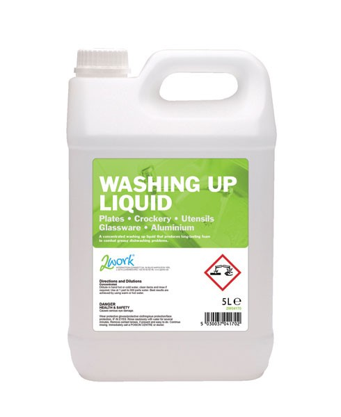 2Work 5L Washing Up Liquid 2W04170 - Dishwashing Supplies