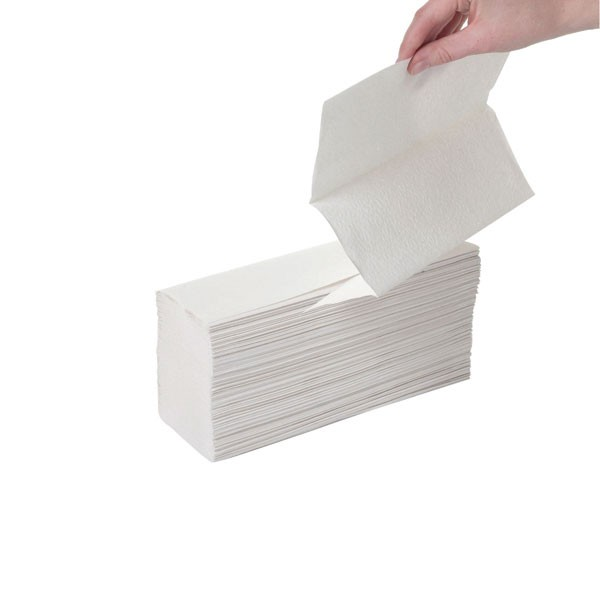 2Work Z-Fold White 2-Ply Hand Towel 242 X 240Mm Pack Of 150 - Paper Hand Towels