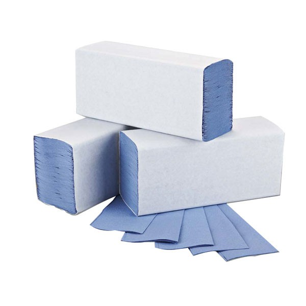 2Work M-Fold 1-Ply Blue Hand Towel 242 X 240Mm Pack Of 200 HT2317 - Paper Hand Towels