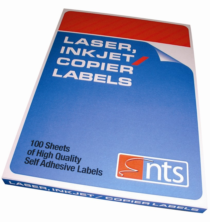 NTS High Quality Labels For Laser, Copier & Inkjet 18 Per Sheet 63.5 x 46.6mm