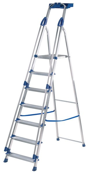Abru Blue Seal 7-Tread Professional Aluminium Step Ladder 10507 - 7 Tread Step Ladder