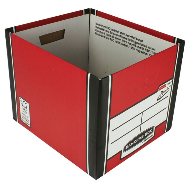 Fellowes R-Kive Red/White Premium Presto Storage Box 7260603 - File Storage Boxes