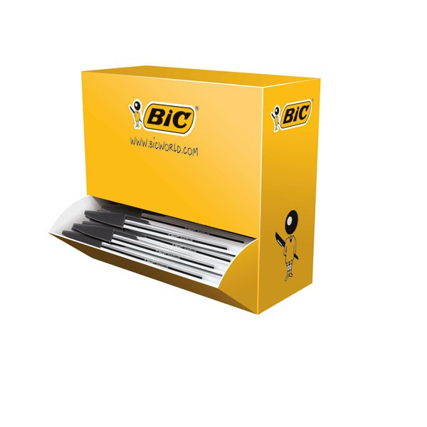 Bic Cristal Black Medium Ballpoint Pens Value Pack 896040 - Biro