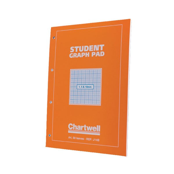 Chatwell 50 Leaf A4 Graph Pad 1/5/10mm J14B