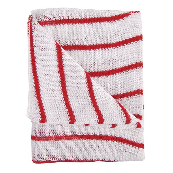 Contico Hygiene Cloth 16x12 Red/White Pack of 10 HDRE1610P - Cleaning Cloths