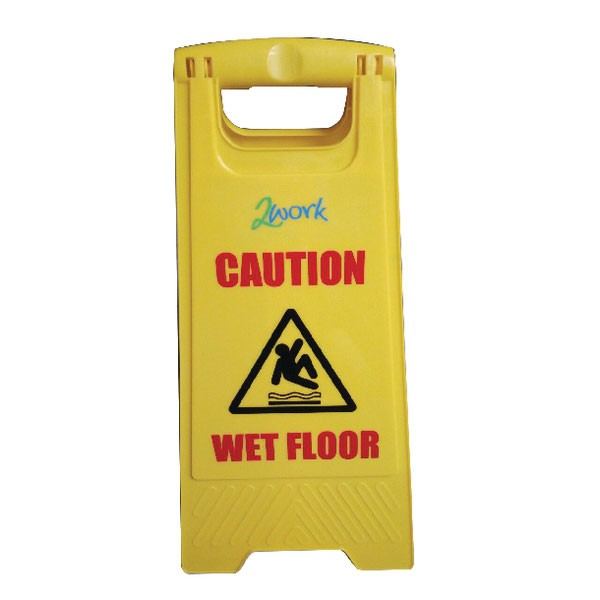 Contico Caution Wet Floor Yellow Folding Safety Sign PS124 - Safety Signs Workplace