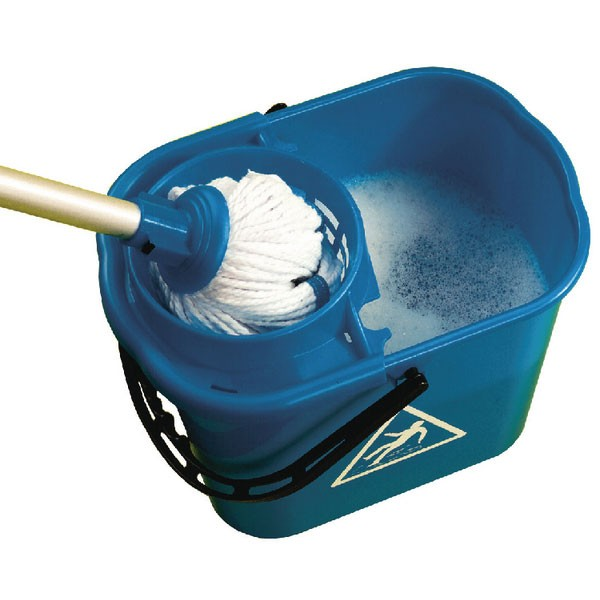 Contico Mop Bucket Wringer 15 Litre Blue SM15BL - Cleaning Buckets