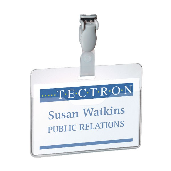 Durable Clear Visitor Name Badge 60 x 90mm Pack Of 25 8147/19