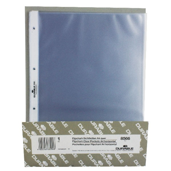 Durable A4 Landscape Pockets For Table Top Presenter 8566