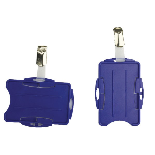 Durable Blue Dual Security Pass Holder PACK OF 25 8218/06 - Badge Holders