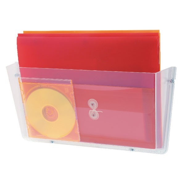 Deflecto Clear A4 Non Breakable Wall File Pocket