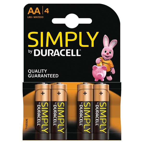 Duracell Simply Battery AA 81235210 Pack Of 4