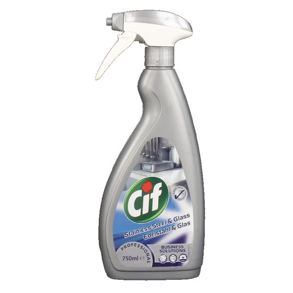 CIF 750ml Professional Stainless Steel/Glass Cleaner 7517938 - Cleaning Supplies