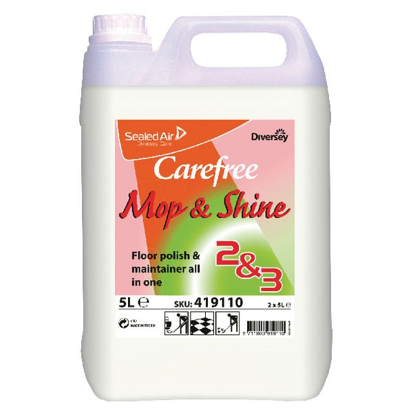 Carefree Mop and Shine Floor Polish 5 Litre (Pack of 2) 419110
