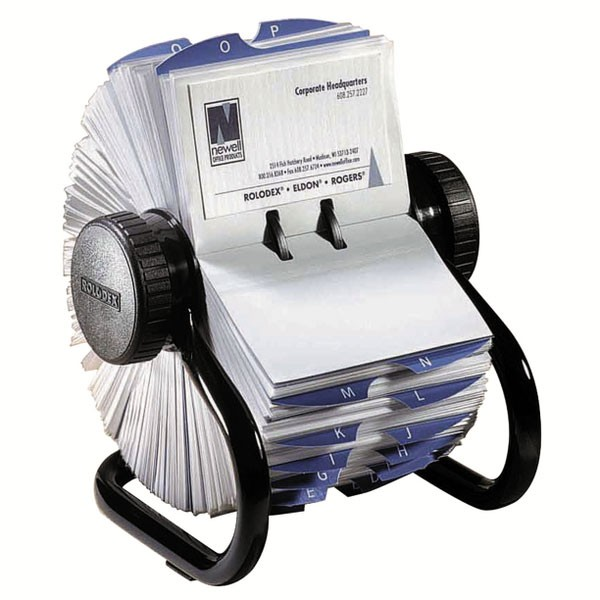 Rolodex 400 Capacity Black Business File