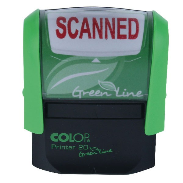 Colop Green Line Self-Inking Scanned Stamp P20GLSCA - Word Stamp