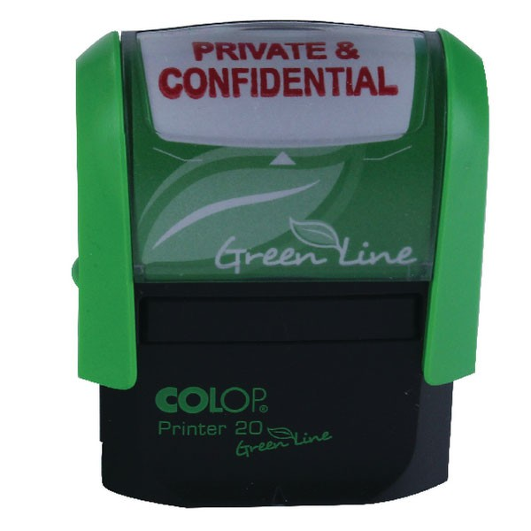 Colop Self-Inking Private/Confidential Stamp P20GLPRI - Word Stamp
