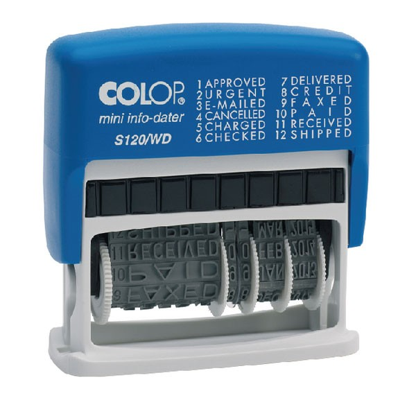 Colop Dial A Phrase Dater Stamp S120WD - Word Stamps