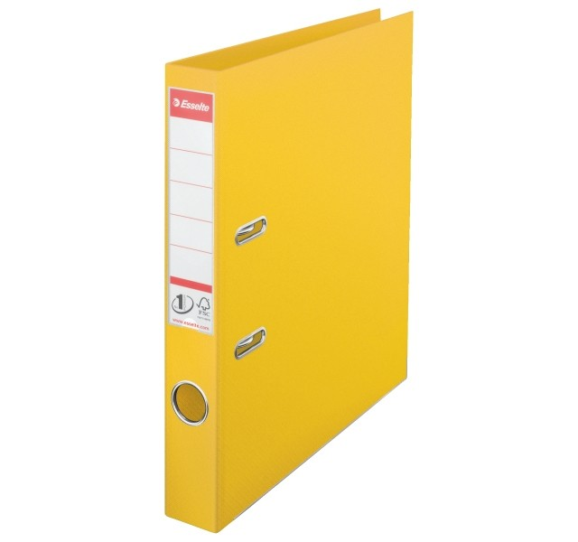 Esselte 50mm Yellow A4 PVC Lever Arch Files - A4 Lever Arch Files Folders
