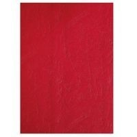 Acco Gbc A4 Binding Covers 250Gsm Textured Leathergrain Plain Red CE040030