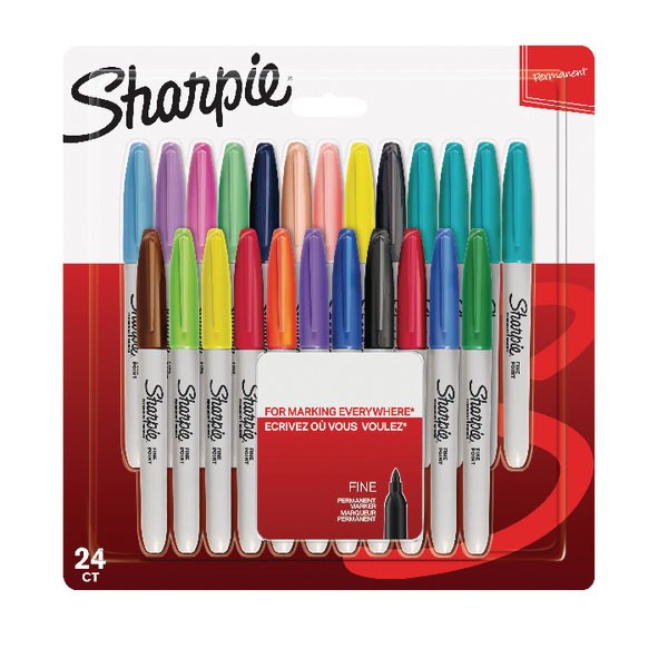 Sharpie Pack Of Assorted Fine Pastel Markers S0944841 - Permanent Markers