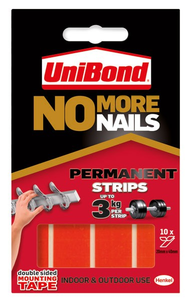 No More Nails Permanent Red Strip 781740