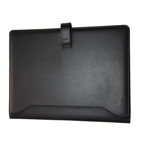 Monolith Black Leather-Look PU Conference Folder With A4 Pad 2900 - Leather Conference Folder