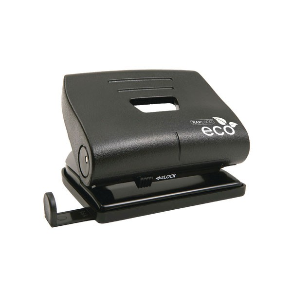 Rapesco Medium Black 20 Sheet Capacity Eco 2-Hole Punch 1086