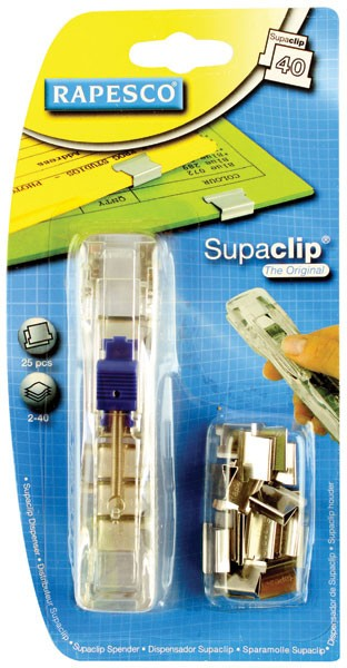 Rapesco Stainless Steel Supaclip 40 Dispenser A25A