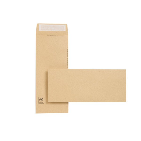 New Guardian Manilla Peel And Seal Easy-Open Envelopes 305x127mm 130gsm - Non-Standard Envelopes