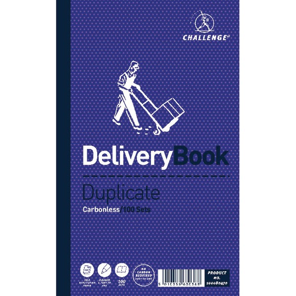 Challenge Carbonless Delivery Duplicate Book 210x127mm 100080470