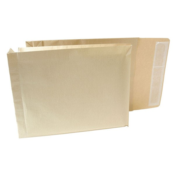 New Guardian Peel And Seal 330x260x50mm Armour Gusset Manilla Envelopes 130gsm J28203 - Gusset Envelopes Ireland