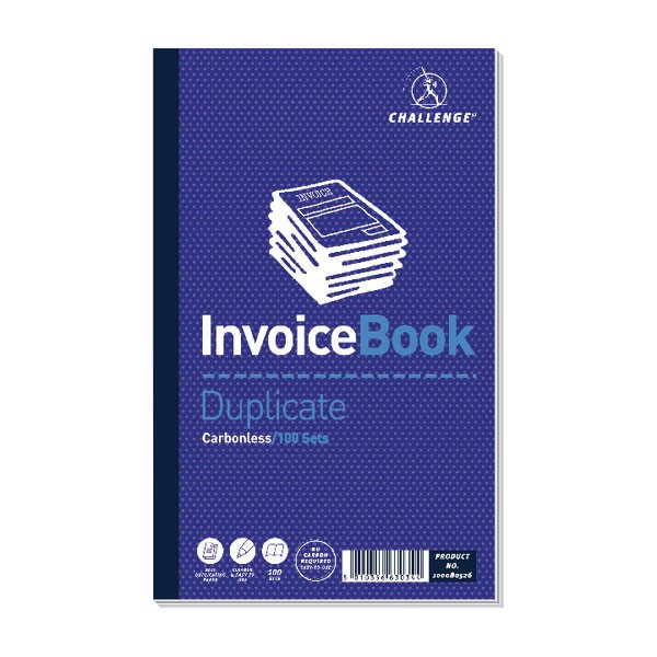 Challenge Carbonless Invoice Duplicate Book 210x130mm 100080526