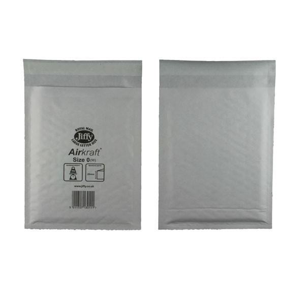 Jiffy White Jiffylite Airkraft Bag 140x195mm JL-0