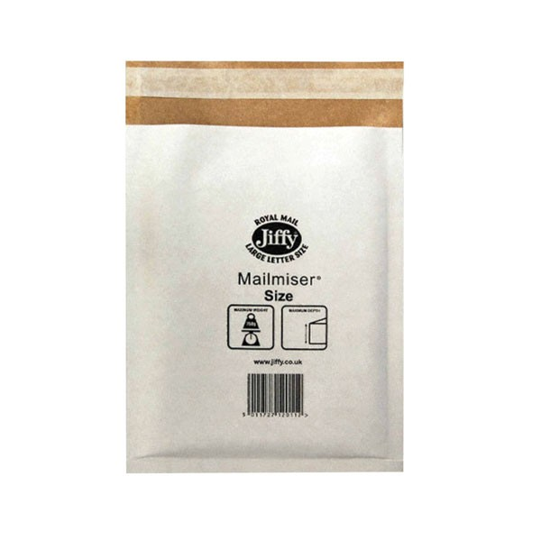 Jiffy White Mailmaster 340x445mm - Padded Envelopes Ireland