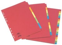 Concord Extra-Wide 5-Part Assorted Bright Subject Dividers 52199 - File Dividers