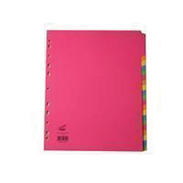 Concord 20-Part Assorted Bright Extra-Wide A4+ Subject Dividers 52399 - File Dividers
