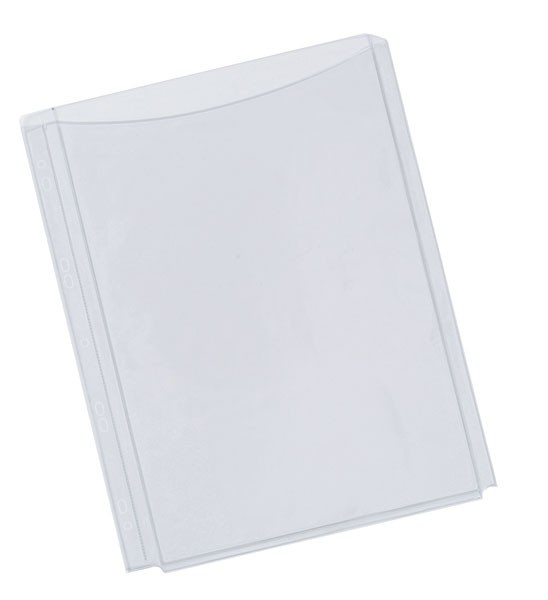 Q-Connect A4 Full Cover Expanding Punched Pockets KF00138