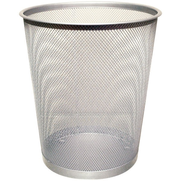 Q-Connect Silver Mesh Waste Basket KF00849