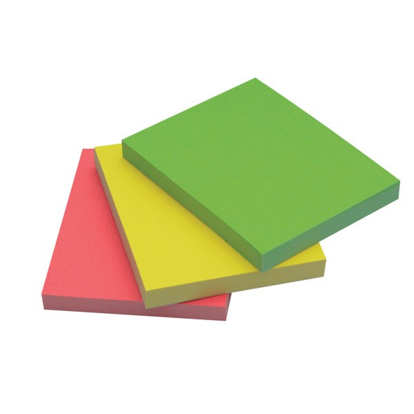 Q-Connect Assorted Neon Quick Note Repositionable Pad 40x50mm KF01224