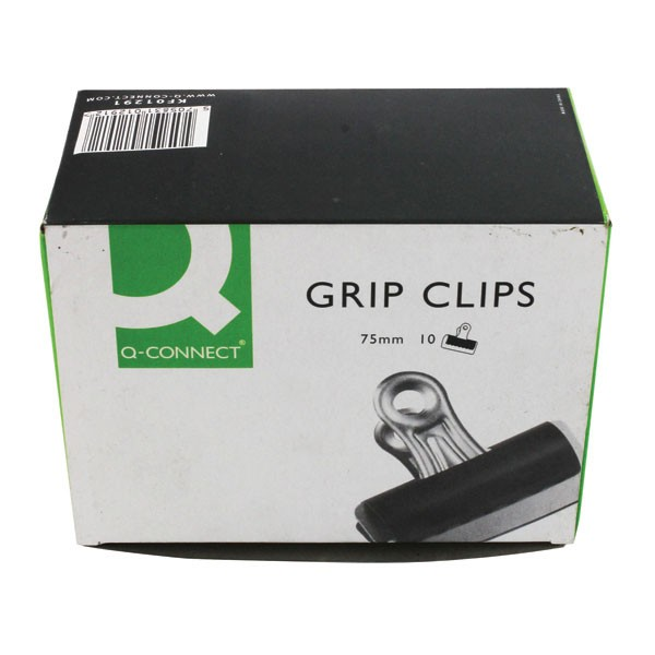 Q-Connect 75mm Grip Clips Pack Of 10 KF01291