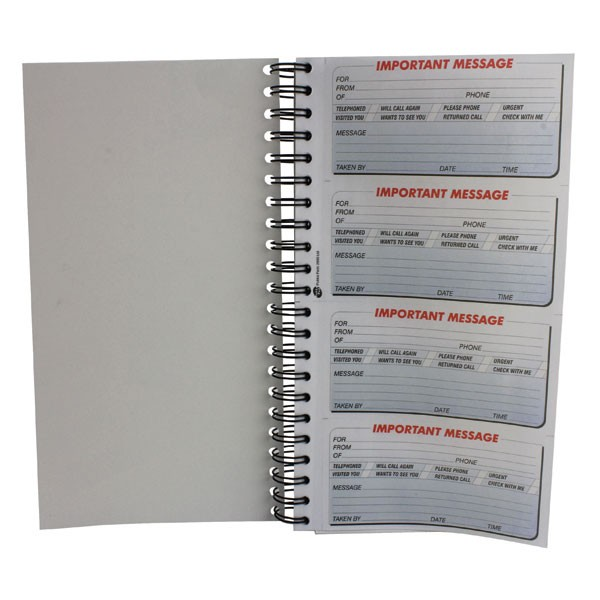 Q-Connect 400 Telephone Message Duplicate Book KF01336