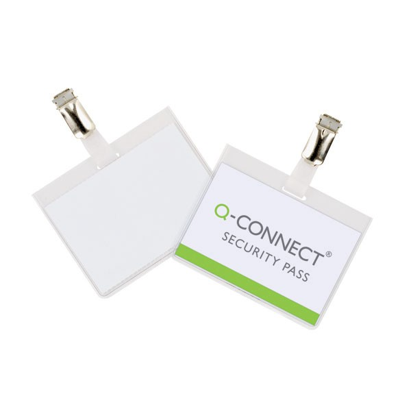 Q-Connect Security Badge 60 x 90mm KF01562 - Badge Holders